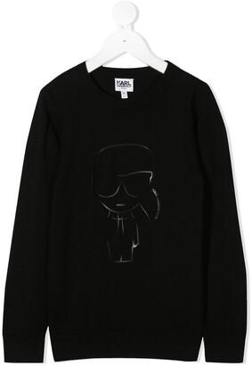 Karl Lagerfeld Paris Logo Print Sweatshirt