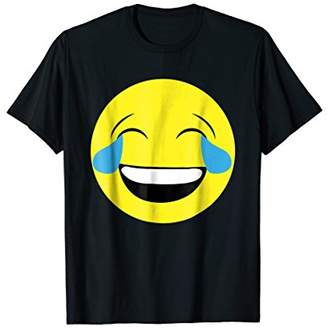 Laugh Emoji T-Shirt Emoji Face Shirt - Emoticon Tee - funny