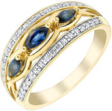 Marquis H Samuel 9ct Yellow Gold Diamond & Sapphire Eternity Ring