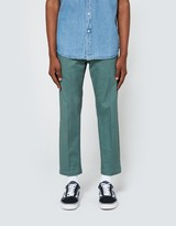 Obey Straggler Flooded Pant in Work Green