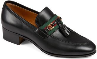 Gucci Paride Tassel Web Loafer