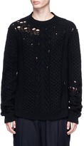 Damir Doma 'Kirg' distressed cable knit sweater