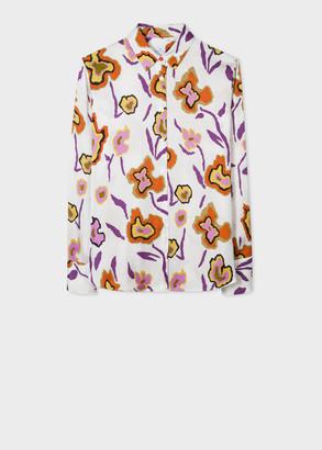 Paul Smith Womens Cream Heat Map Floral Print Shirt