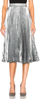 Christopher Kane Lurex Pleated Hotfix Skirt