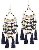 Rosantica Kilimangiaro Beaded Tassel Earrings
