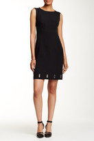 Anne Klein Mystery Crepe Eyelet Shift Dress