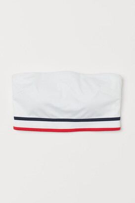 H&M Padded Bandeau Bikini Top - White