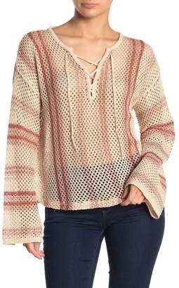 Billabong Tidal Vibes Striped Open Knit Sweater