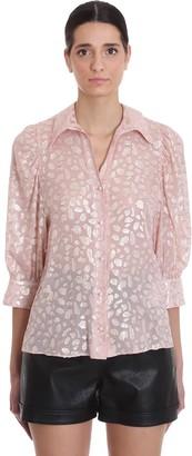 Stella McCartney Reese Shirt In Rose-pink Silk