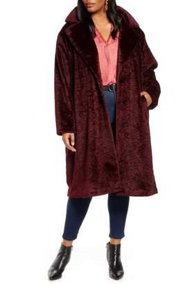 Halogen Faux Fur Coat