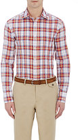 Michael Bastian MEN'S PLAID PLEATED SHIRT