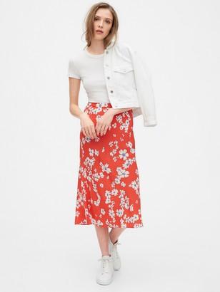 Gap Print Midi Skirt