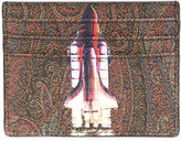 Etro paisley rocket print card holder
