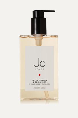 JO LOVES Green Orange & Coriander Hand & Body Cleanser, 200ml