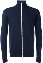 Moncler bi-colour zip cardigan