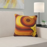 """Abstract Agate Geode Slice Macro Pillow East Urban Home Size: 16"""" x 16"""", Product Type: Throw Pillow"""