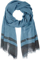 Colombo MEN'S HAND-PAINTED CASHMERE-SILK SCARF