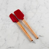 Williams-Sonoma Williams Sonoma Silicone Mini Spatula & Spoonula with Classic Wood Handle