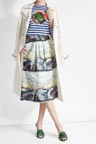 Burberry Kindle Printed Midi Skirt