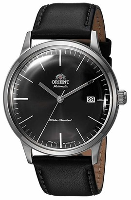 Orient Men's '2nd Gen. Bambino Ver. 3' Japanese Automatic Stainless Steel and Leather Dress Watch