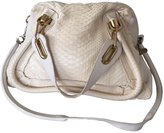 Chloé Paraty shoulder strap bag in python