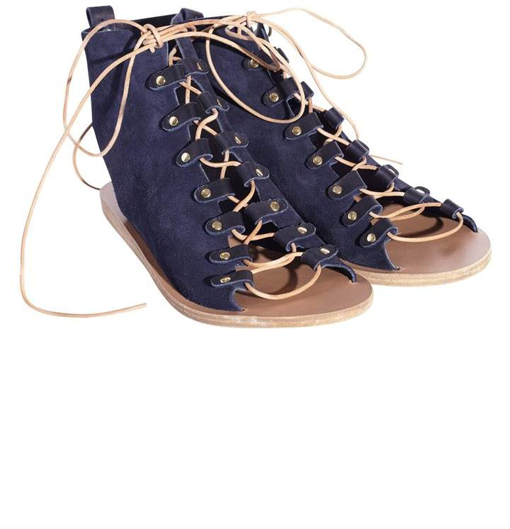 Ancient Greek Sandals Mache Blue