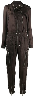 Rick Owens long sleeve multi-zip jumpsuit