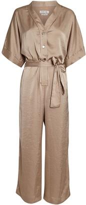 Overlover Cecilia Satin Short Sleeve Jumpsuit