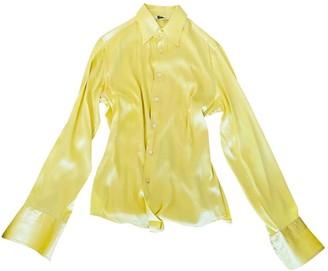 Caliban Yellow Silk Top for Women