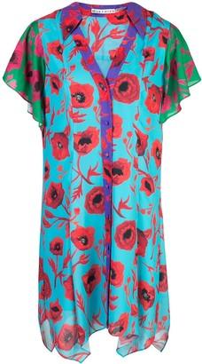 Alice + Olivia Poppy Garden Shirt Dress