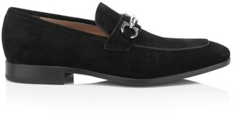 Salvatore Ferragamo Benford Suede Horsebit Loafers