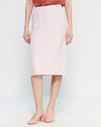 Marni Cinder Rose Washed Linen Toile Skirt