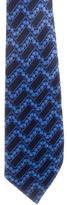 Lanvin Silk Printed Tie