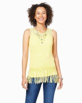 Charming charlie Thea Fringe Tank