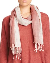 Eileen Fisher Embroidered Ombré Wool Scarf