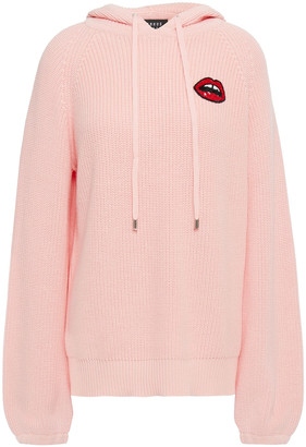 Markus Lupfer Rita Sequin-embellished Ribbed Cotton Hoodie