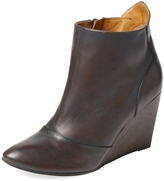 Coclico Women's Jacynthe Leather Wedge Bootie