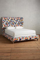 Anthropologie Brushstroke-Printed Wingback Bed