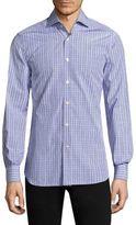 Kiton Plaid Button-Down Shirt