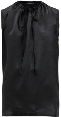 Ann Demeulemeester Tie-neck Satin Blouse - Black