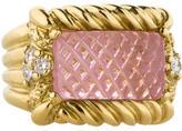 Judith Ripka Carved Tourmaline and Diamond Ring