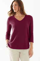 J. Jill 3/4-Sleeve Shirttail Pullover