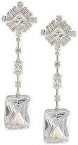 Carolee Silver-Tone Cubic Zirconia Linear Drop Earrings