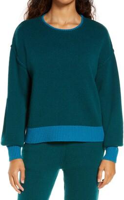 UGG Renata Contrast Trim Cashmere Blend Sweater