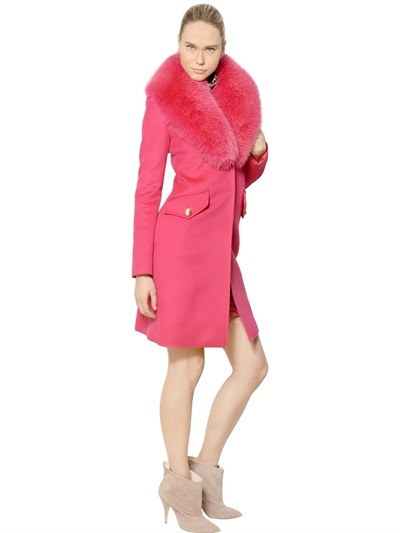 Blumarine Foxfur Wool Angora Cloth