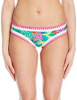 Betsey Johnson Womens Swimwear Tropical Escape Hipster Bikini Bottom
