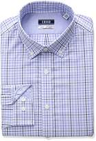 Izod Men's Slim Fit Plaid Buttondown Collar Dress Shirt