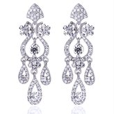 Bridal Flower Vase Chandelier Earrings Austrian Crystal for Women or Wedding,Decoration Women's GIFT M&M Jewelry