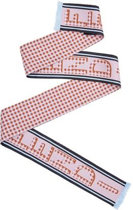 Fendi Vichy print skinny scarf