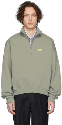 Martin Asbjorn Grey Andrew Zip-Up Sweater